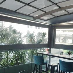 Vertical Awnings With Side Channels